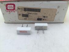 (5 pcs) TVW5J100 Ohmite, 5 Watt 100 Ohm 5%, Ceramic Housed Power Resistor