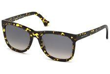 BALENCIAGA Lunettes de soleil ba0028 Noir & jaune TORTUE grand femme carré