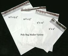 New listing 60 Poly Bag Mailer Small to Large Size Variety Pack 2.5 Mil Quality Bags
