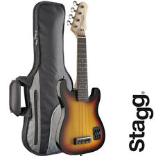 NEW Stagg EUK S-Style 4 String Solid Body Electric Ukulele SUNBURST with Gig Bag
