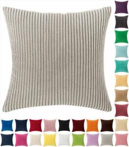 """16"""" 18"""" 20"""" 24""""Jumbo Cord Corduroy Plain Soft Plush Cushion Cover Pillow Cases~"""