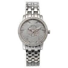 Croton Diamond Silver Watch Womens Swiss Quartz Ballroom CN207420SSDI Ladies