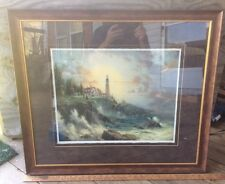 Thomas Kinkade Accents Print , Title Clearing Storms, Lighthouse , 31 X 27