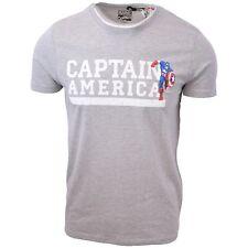 Marvel Comics Men's Captain America Grey S/S T-Shirt