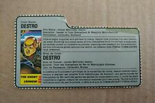1988 GI Joe Cobra Destro File Card FC! Vintage Hasbro
