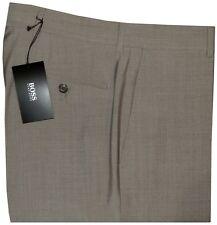 NEW HUGO BOSS BLACK LABEL TAUPE FLAT FRONT 100% WOOL ALL SEASON DRESS PANTS 33