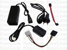Kabel Adapter Konverter USB auf IDE u. S-ATA 6,4 und  8,9 cm Festplatten #22100