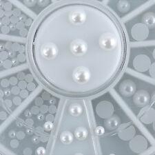 Faux Pearl Acrylic Nail UV Gel Art Sticker Decoration Tips Kits Wheel Decoration