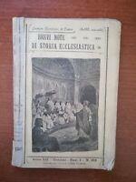 Brevi note di storia ecclesiastica - AA.VV.- Benigno - 1903  - M
