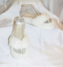 SWEET DREAMS FACEPLANT FLIP FLOP SEXY SLIPPERS WHITE MEMORY FOAM SIZE SMALL 5/6