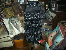 VITRIN Fabulous Black+White Polka Dot Boho Skirt Size 40