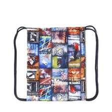 adidas Originals BTS Trefoil Logo Drawstring Gym Sack Bag Retro Print 47 X 38 cm
