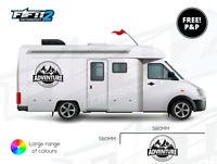 2 Stripe Motorhome Travel Camper Van Graphics Stickers Decals For Mercedes VW T5