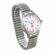 Nurse Watch Stainless Steel Stretch Band Pulse Quadrant Dakota 53798