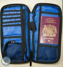 KORJO TRAVEL PASSPORT DOCUMENT WALLET HOLDER - BLACK