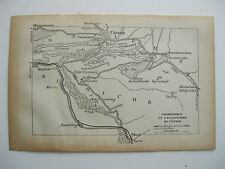 stampa antica mappa antique old map FUSSEN WEISSENSEE GERMANIA GERMANY  1914