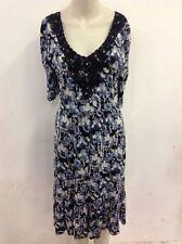 Oasis V-Neck 3/4 Sleeve Floral Dresses for Women