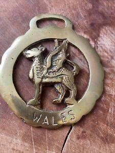 Horse Brass Vintage Wales Welsh Dragon