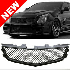 Matte Black Mesh Front Upper Grille 2009 2010 2011 2012 2013 2014 Cadillac Cts-V (Fits: Cadillac)