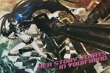 poster promo Black Rock Shooter / Heroman anime Kuroi Mato