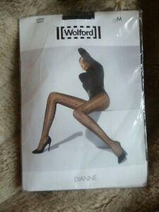 WOLFORD Dianne Black Tights. Size Medium.