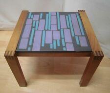 1950s 1960s Flower Stool Helmut Scheffernacken Table Teak Wood Ceramics 50s