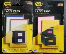 100 LABELS 🔥 3M Post It Super Sticky Removable Label Pads 2 x 3 Inches Peels