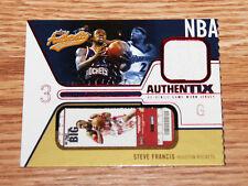 2003-04 Fleer Authentix Steve Francis Worn Jersey Card Houston Rockets