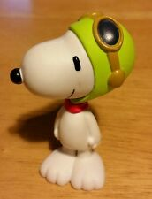"PEANUTS GANG SNOOPY 3"" PVC PLASTIC FIGURE CAKE TOPPER WORLD WAR II FLYING ACE"