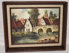 FINE ART European Original Painting Oil On Canvas Listed Artist Signed