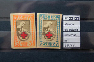 STAMPS OLD ESTONIA RED CROSS MH* (F122123)