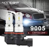 NOVSIGHT Pair 9005 LED Fog Light Bulb Driving DRL 9145 80W CSP 6500K HID White
