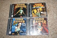 Tomb Raider 1 2 3 Ii Iii Last Revelation Original (Sony Playstation 1) Complete