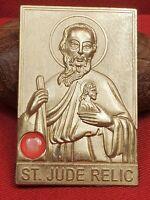 RARE ORIG ANTIQUE / VINTAGE - SAINT JUDE ST. JUDE RELIC - RELIGIOUS RELIC