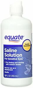 Equate Contact Lens Saline Solution for Sensitive Eyes, Twin Pack, 12 Fl Oz, 24