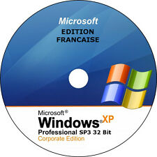 ✅ Windows XP SP3 Professionel 32 bits français - DVD installation sans licence ✅