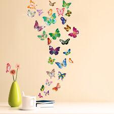 Walplus Wall Sticker Decal Butterflies with Swarovski Crystals Home Decorations
