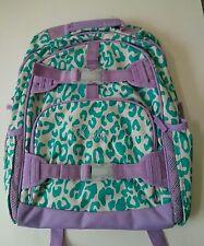 Pottery Barn Kids Teal & Purple Cheetah Large Mackenzie Backpack name KAELYN