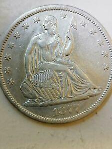 1877-CC Seated Liberty Half Dollar Au condition!!!