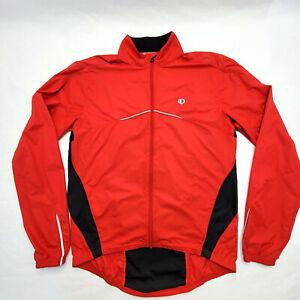 Pearl Izumi Medium Cycling Jacket Windbreaker Packable Red