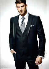 Designe Herrenanzug Hochzeitsanzug Bräutigam Slim Fit 9-teiler schwarz Gr. 44-56