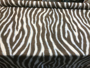 Zany Zebra Ice Blue Drapery Upholstery Home Accent Fabric By The Yard
