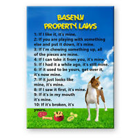 BASENJI Property Laws FRIDGE MAGNET No 1 New DOG Funny