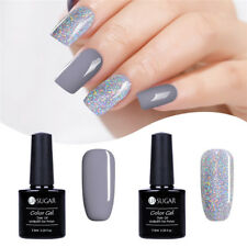 2Pcs/set UR SUGAR Nail Gel Polish Soak Off  Glitter UV Gel Top Base Coat