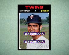 Ray Corbin Minnesota Twins 1971 Style Custom Baseball Art Card