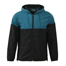 Men's Fashion Hooded Raincoat Waterproof Jacket Zip Up Windbreaker