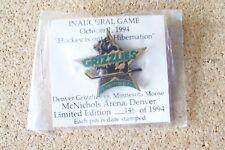 Inaugural Game October 1, 1994 Denver Grizzlies pin minnesota moose #'d IBM