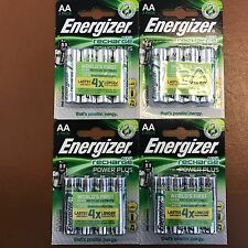 16 x Energizer AA Rechargeable POWER PLUS Batteries 2000 mAh NiMH Pre-Charged