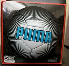 Puma Soccer Ball Futbol size 5 Official Size Ages 13+ Black Blue White