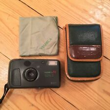 Yashica T4 35mm Camera RARE green safari ORIGINAL CASE & CLEANING CLOTH INCLUDED